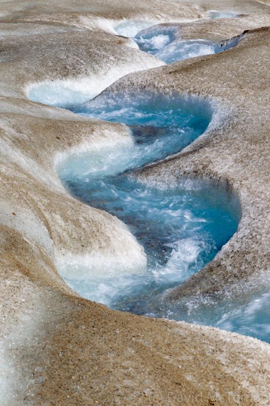Athabasca Glacier water flow