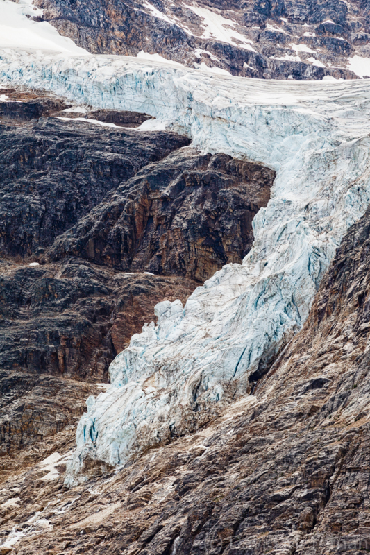 Angel Glacier closeup